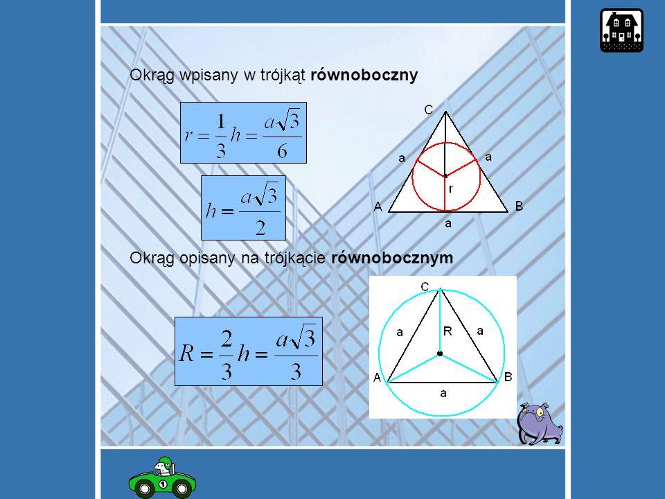 Okrąg wpisany w trójkąt równoboczny