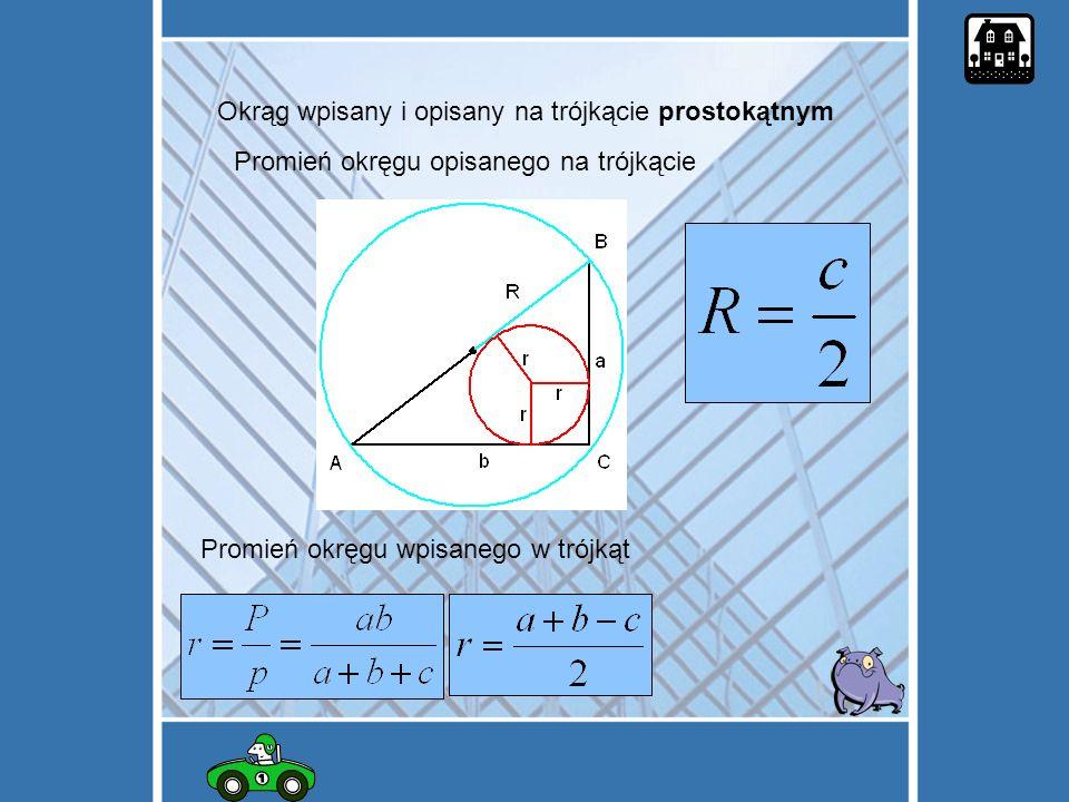 Okrąg wpisany i opisany na trójkącie prostokątnym