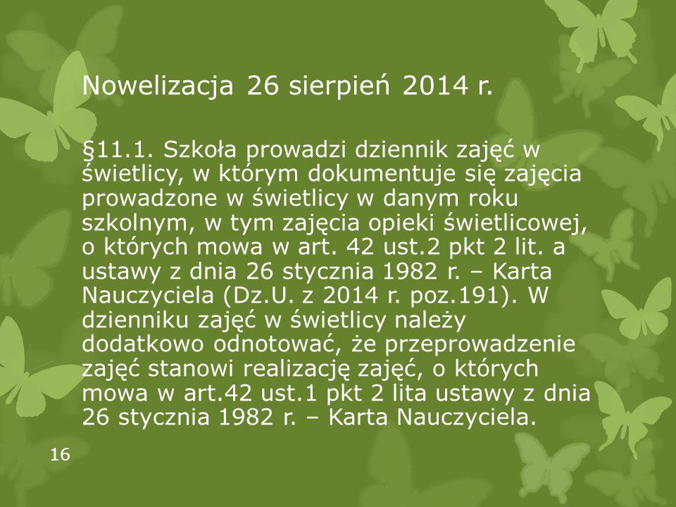 Nowelizacja 26 sierpień 2014 r.