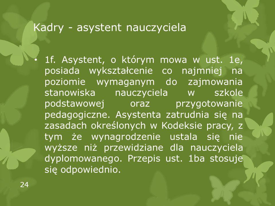Kadry - asystent nauczyciela