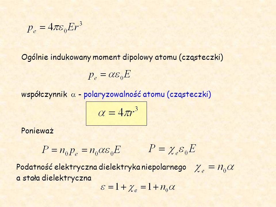 Ogólnie indukowany moment dipolowy atomu (cząsteczki)