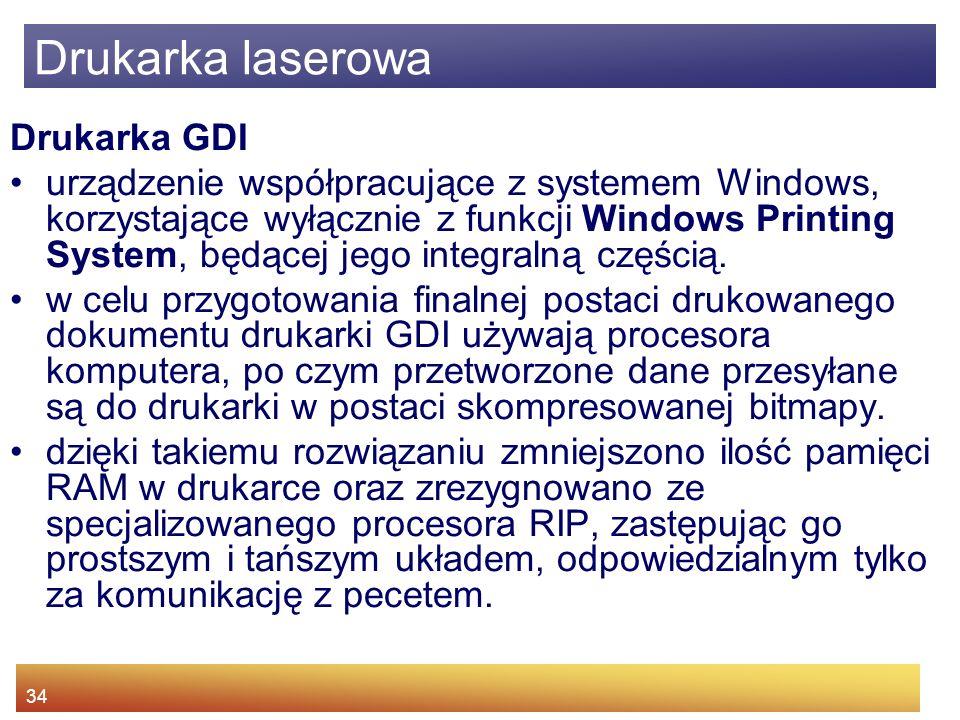 Drukarka laserowa Drukarka GDI