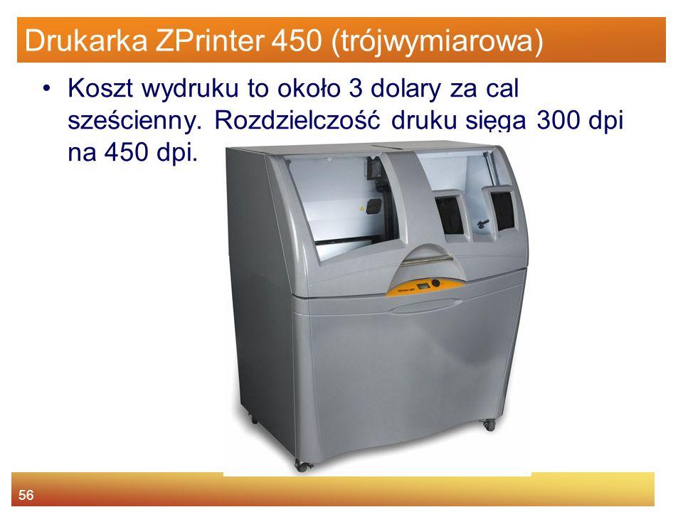 Drukarka ZPrinter 450 (trójwymiarowa)