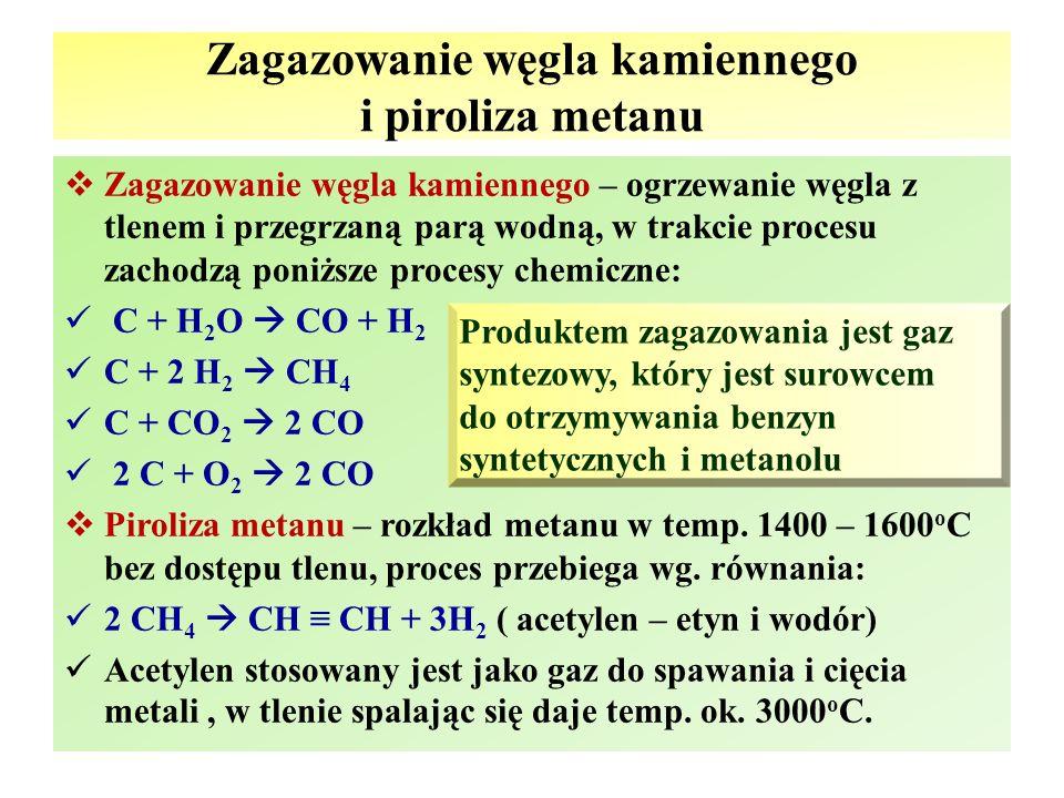 Zagazowanie węgla kamiennego i piroliza metanu