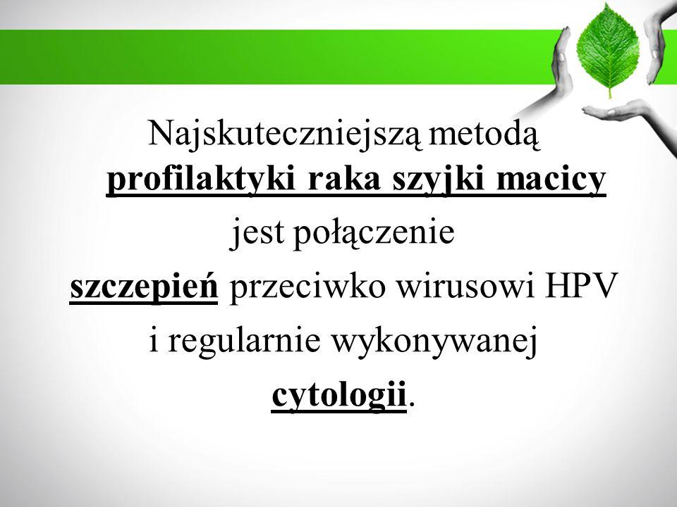 Najskuteczniejszą metodą profilaktyki raka szyjki macicy