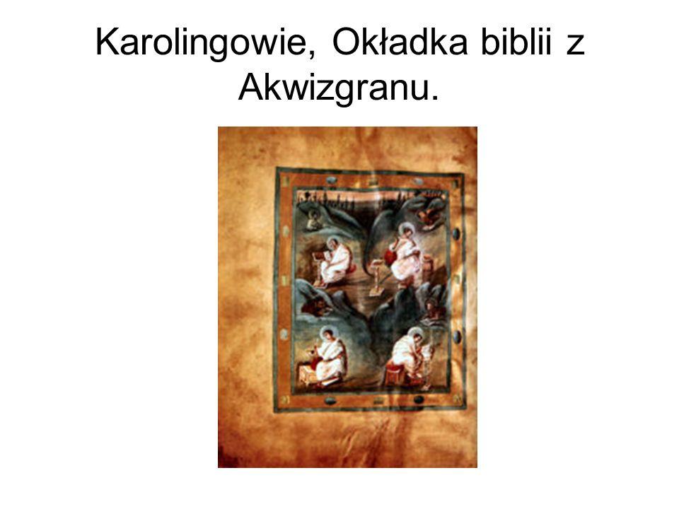 Karolingowie, Okładka biblii z Akwizgranu.