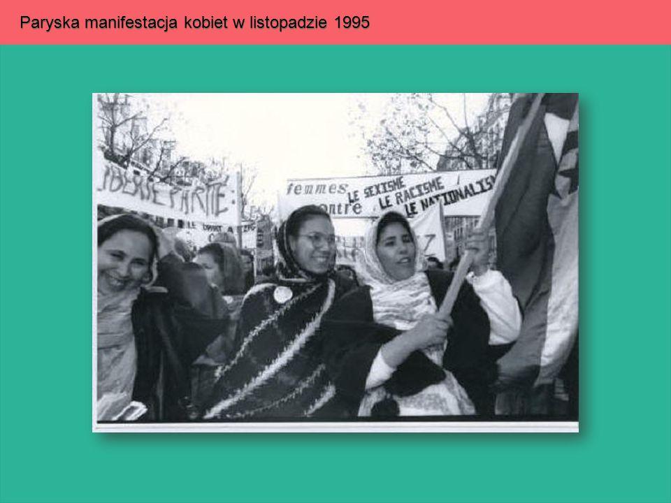 Paryska manifestacja kobiet w listopadzie 1995
