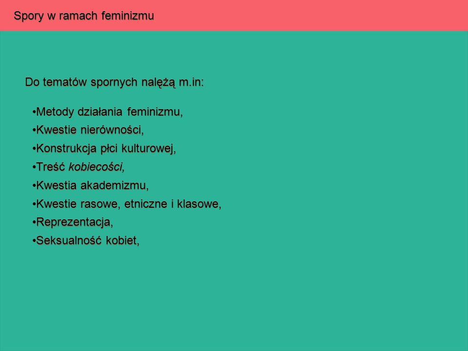 Spory w ramach feminizmu