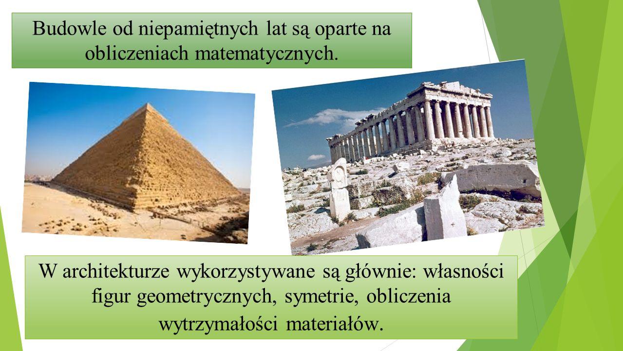 Budowle od niepamiętnych lat są oparte na obliczeniach matematycznych.
