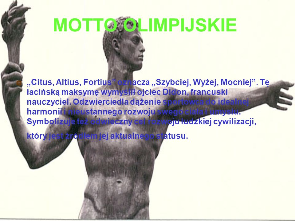 MOTTO OLIMPIJSKIE