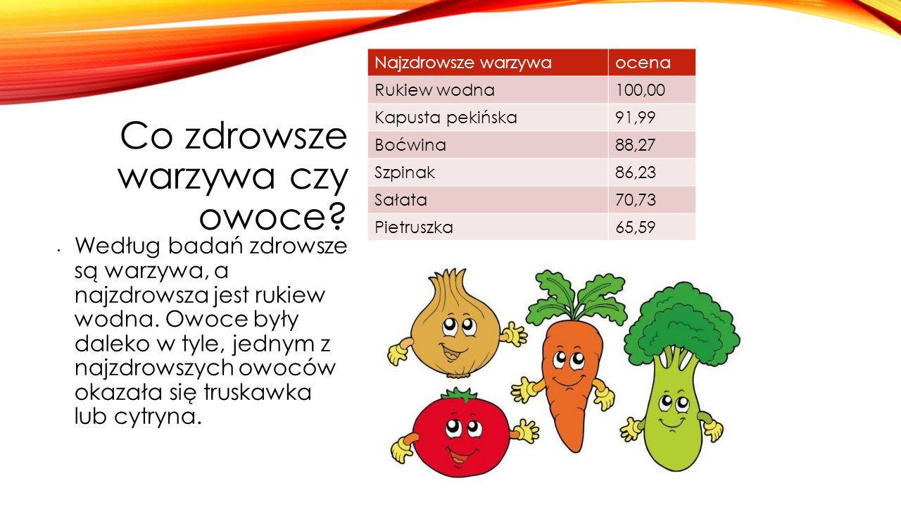 Co zdrowsze warzywa czy owoce