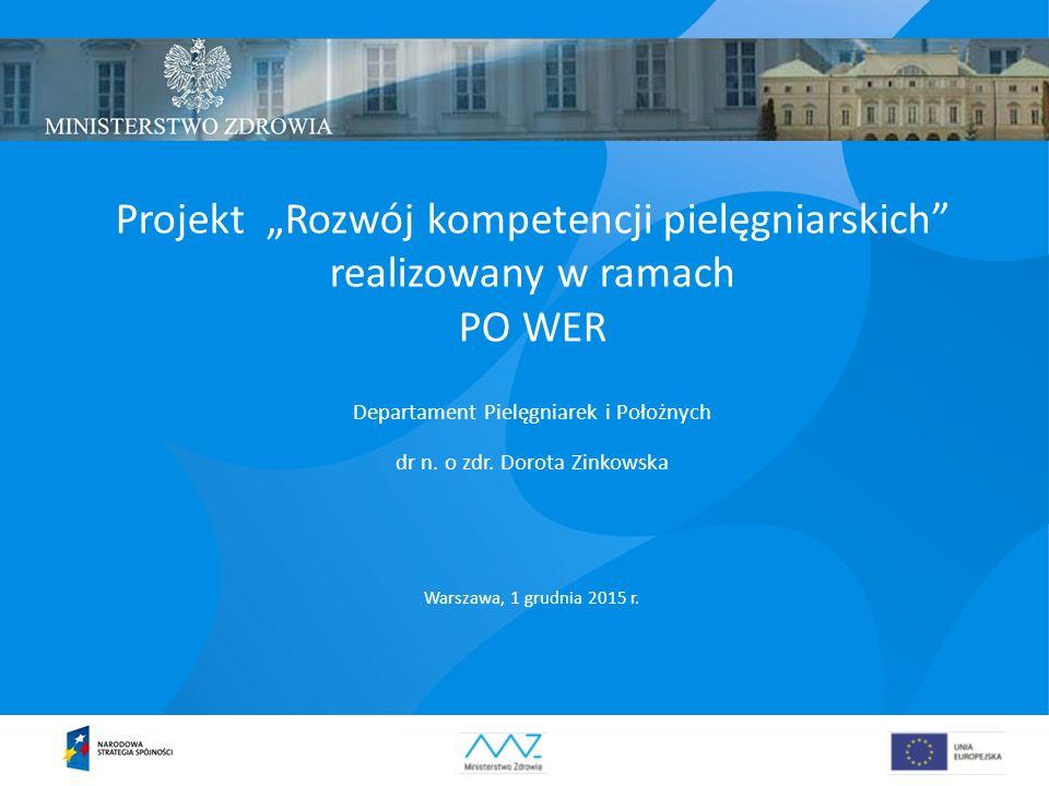 """Projekt """"Rozwój kompetencji pielęgniarskich realizowany w ramach"""