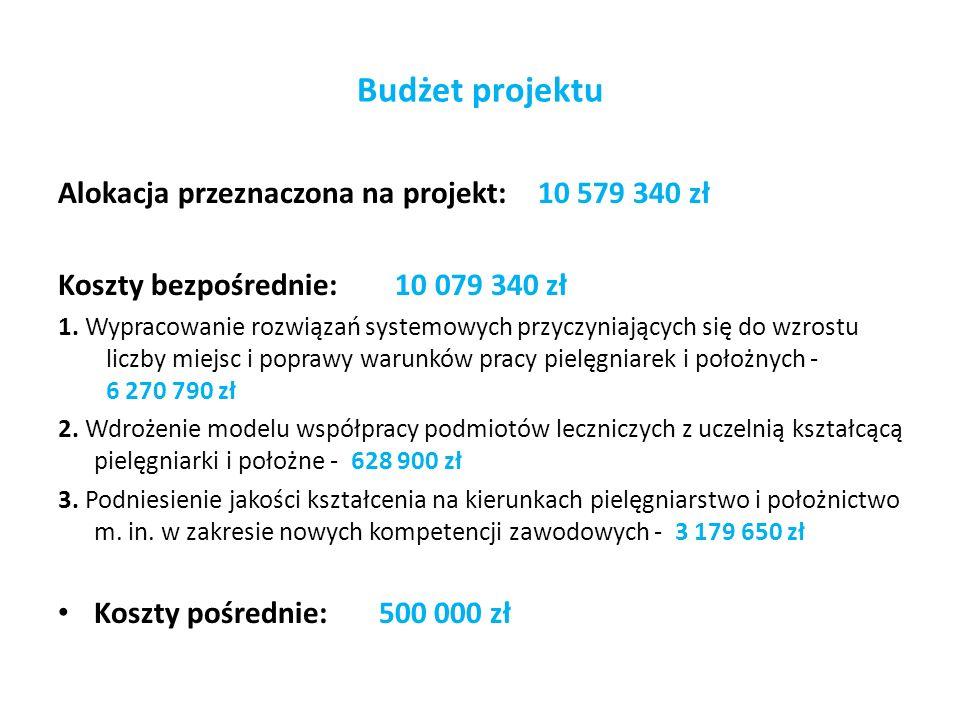Budżet projektu Alokacja przeznaczona na projekt: 10 579 340 zł