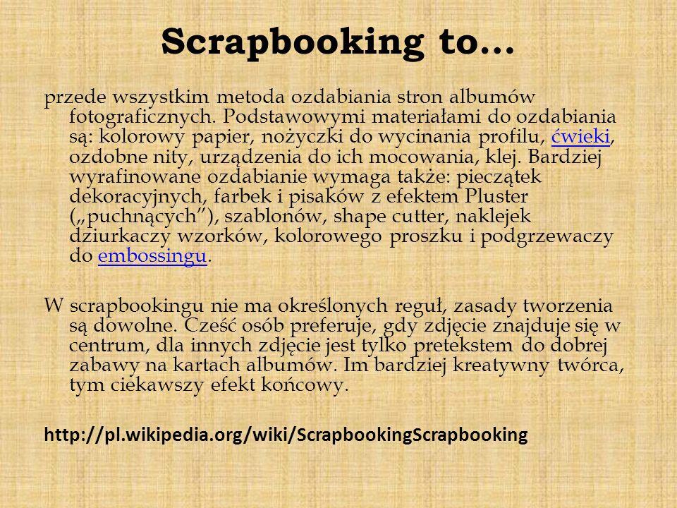Scrapbooking to…