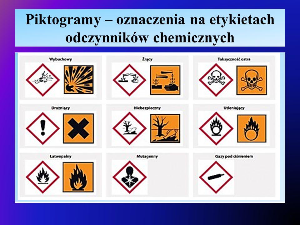Piktogramy – oznaczenia na etykietach odczynników chemicznych