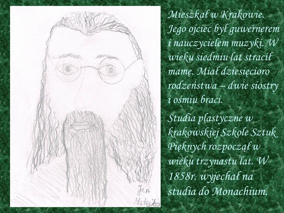 Mieszkał w Krakowie. Jego ojciec był guwernerem i nauczycielem muzyki