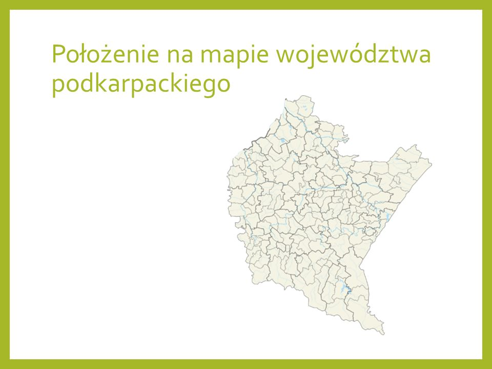 Położenie na mapie województwa podkarpackiego