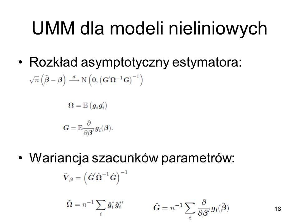 UMM dla modeli nieliniowych