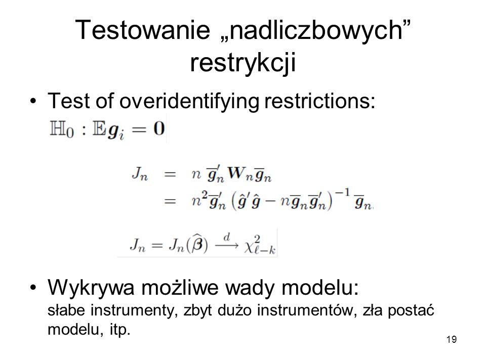 """Testowanie """"nadliczbowych restrykcji"""