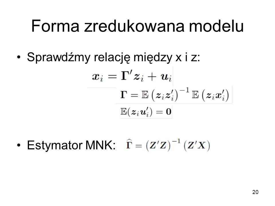 Forma zredukowana modelu