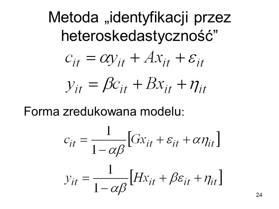 """Metoda """"identyfikacji przez heteroskedastyczność"""