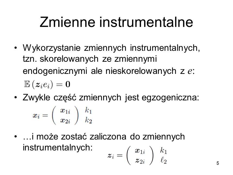 Zmienne instrumentalne