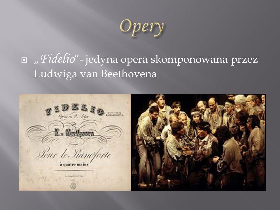 """Opery """"Fidelio - jedyna opera skomponowana przez Ludwiga van Beethovena"""