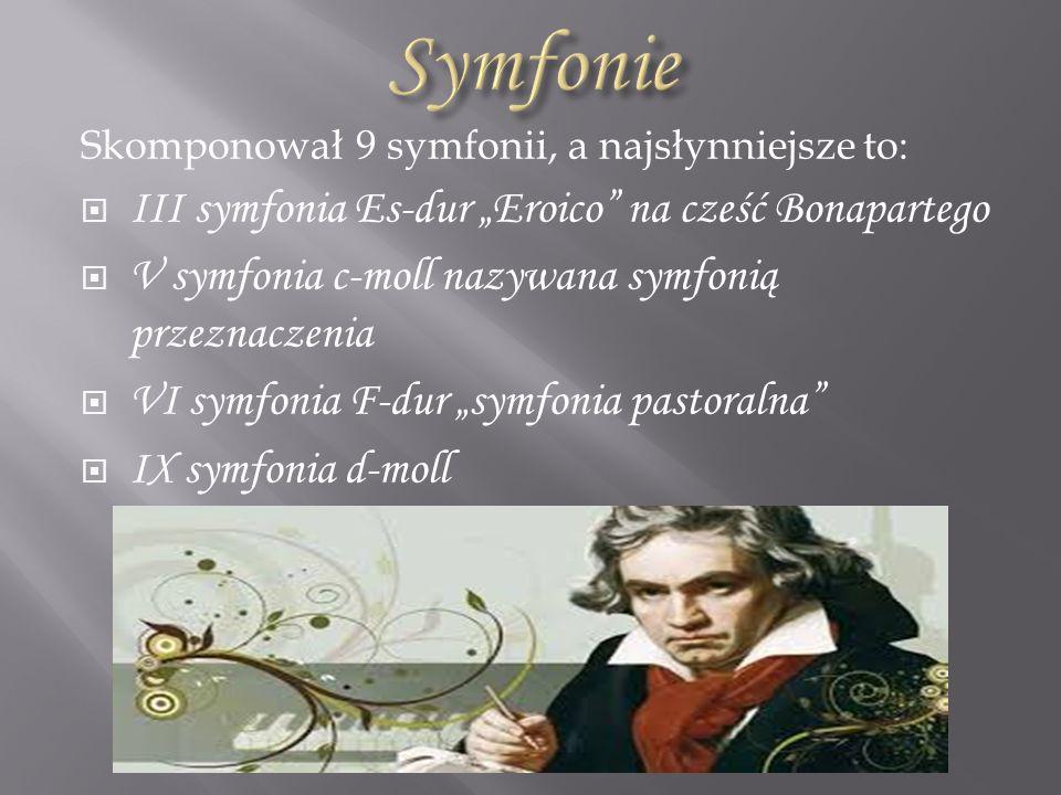 """Symfonie III symfonia Es-dur """"Eroico na cześć Bonapartego"""