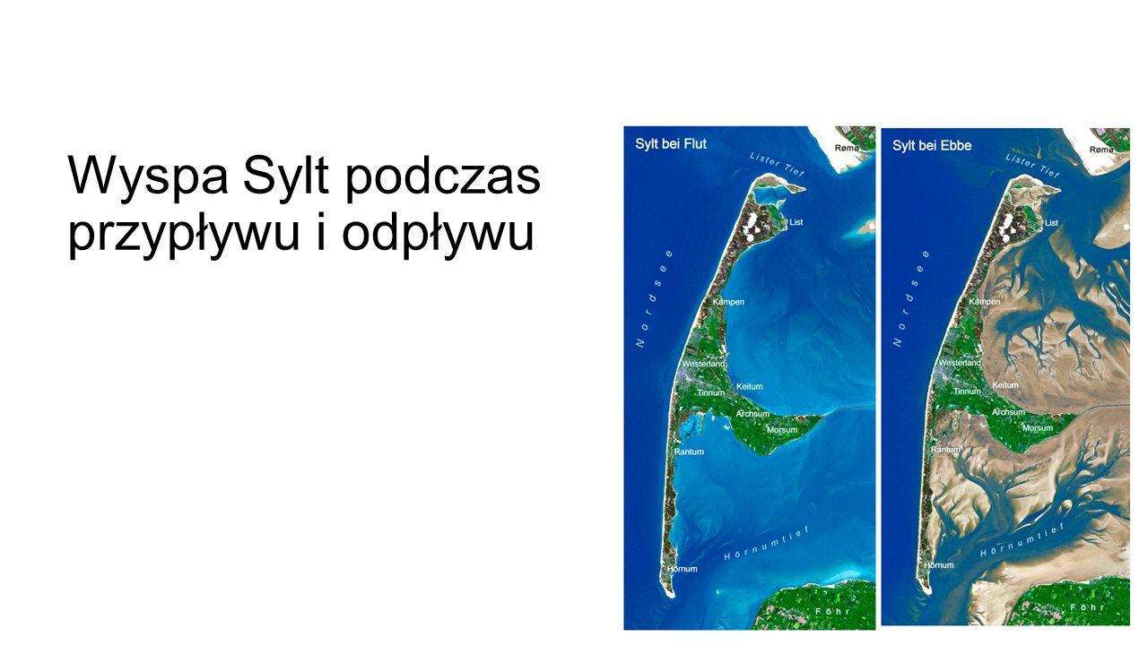 Wyspa Sylt podczas przypływu i odpływu