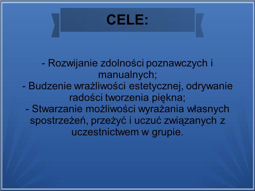 - Rozwijanie zdolności poznawczych i manualnych;