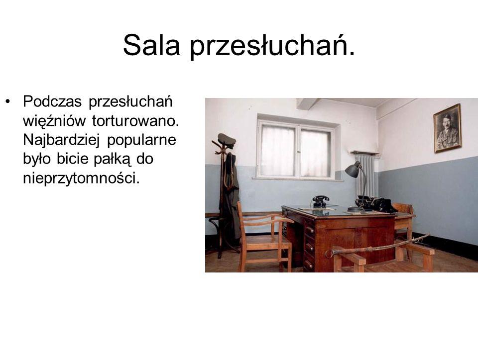 Sala przesłuchań. Podczas przesłuchań więźniów torturowano.