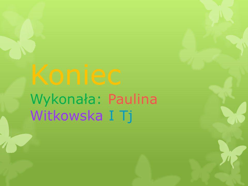 Koniec Wykonała: Paulina Witkowska I Tj