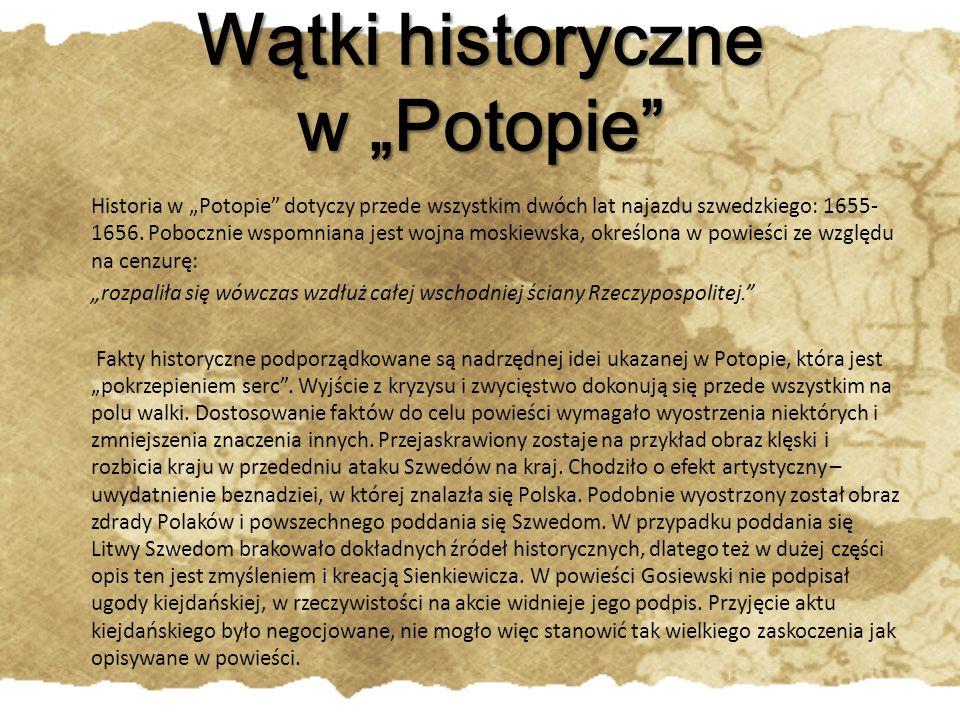 """Wątki historyczne w """"Potopie"""