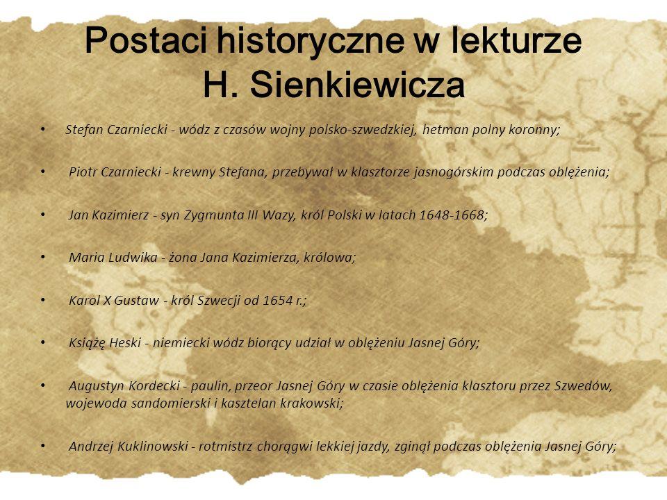 Postaci historyczne w lekturze H. Sienkiewicza