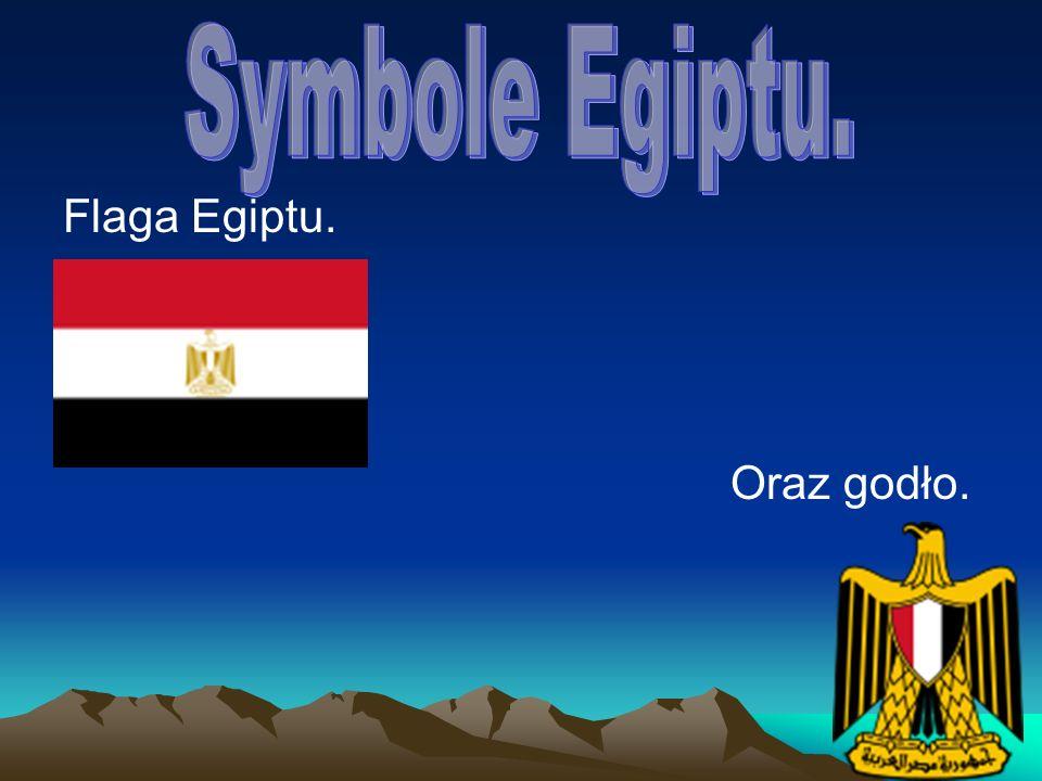 Symbole Egiptu. Flaga Egiptu. Oraz godło.