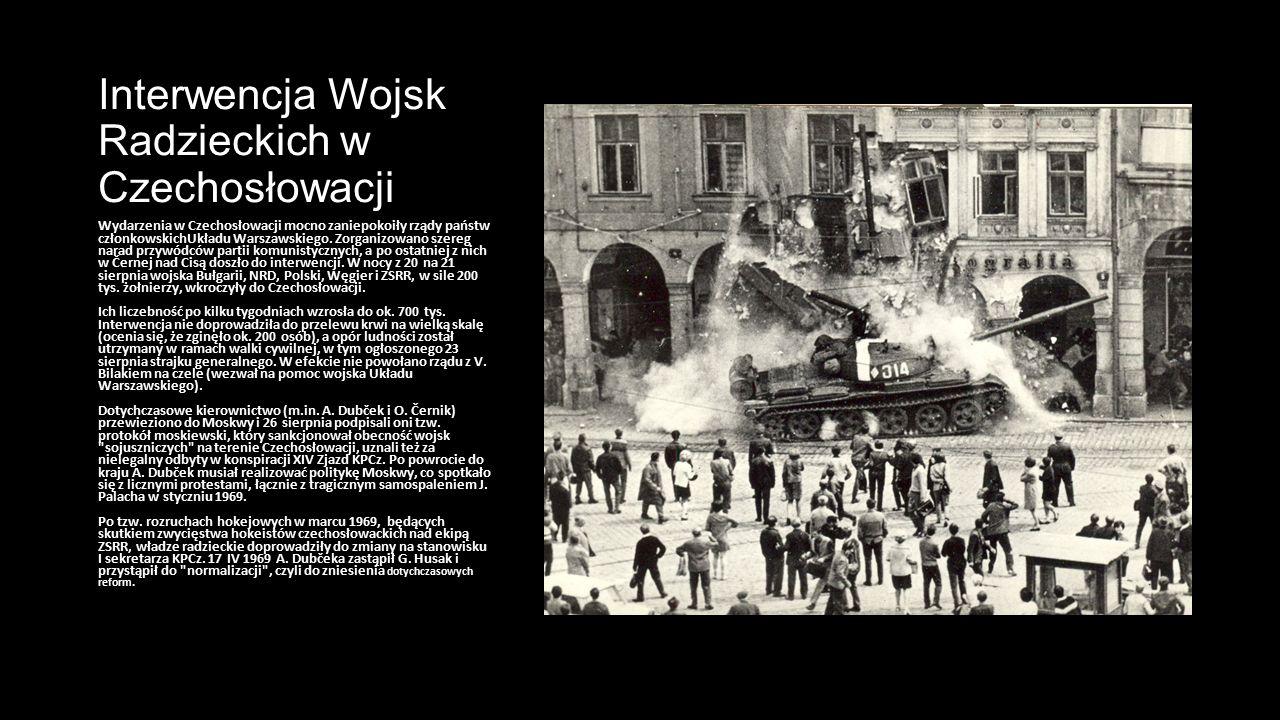 Interwencja Wojsk Radzieckich w Czechosłowacji