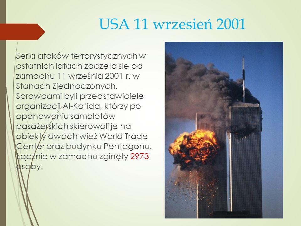 USA 11 wrzesień 2001
