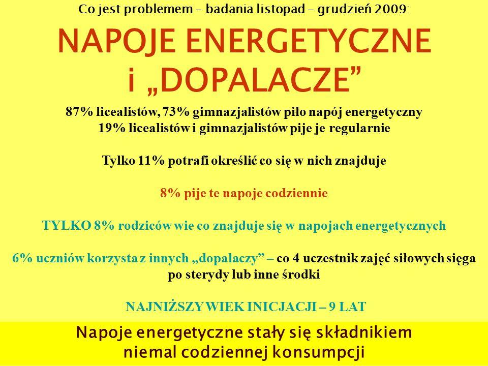 """NAPOJE ENERGETYCZNE i """"DOPALACZE"""