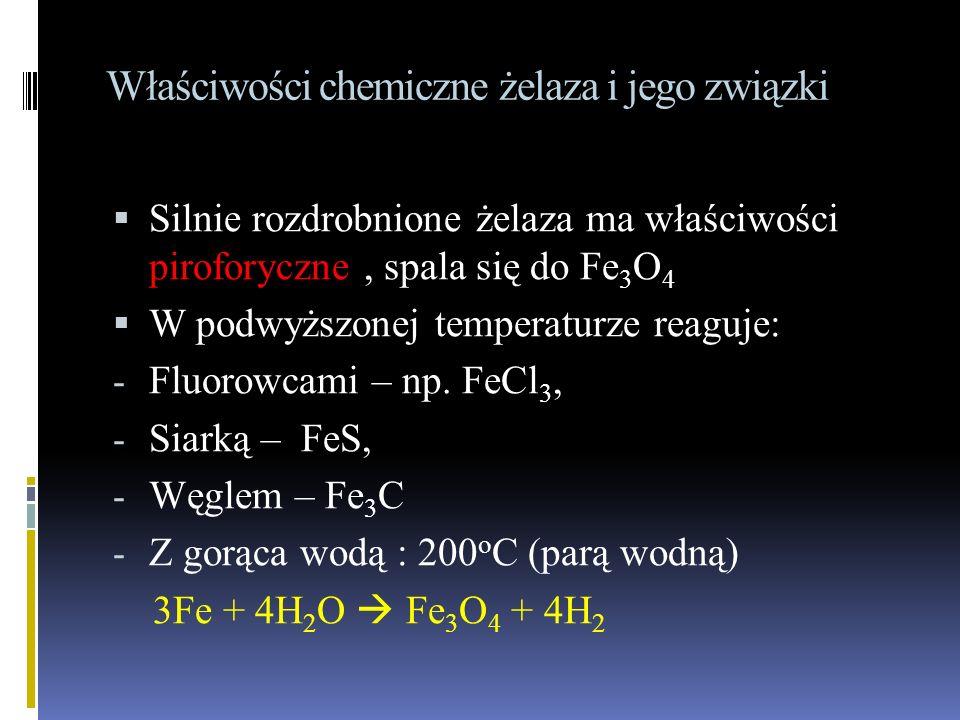 Właściwości chemiczne żelaza i jego związki