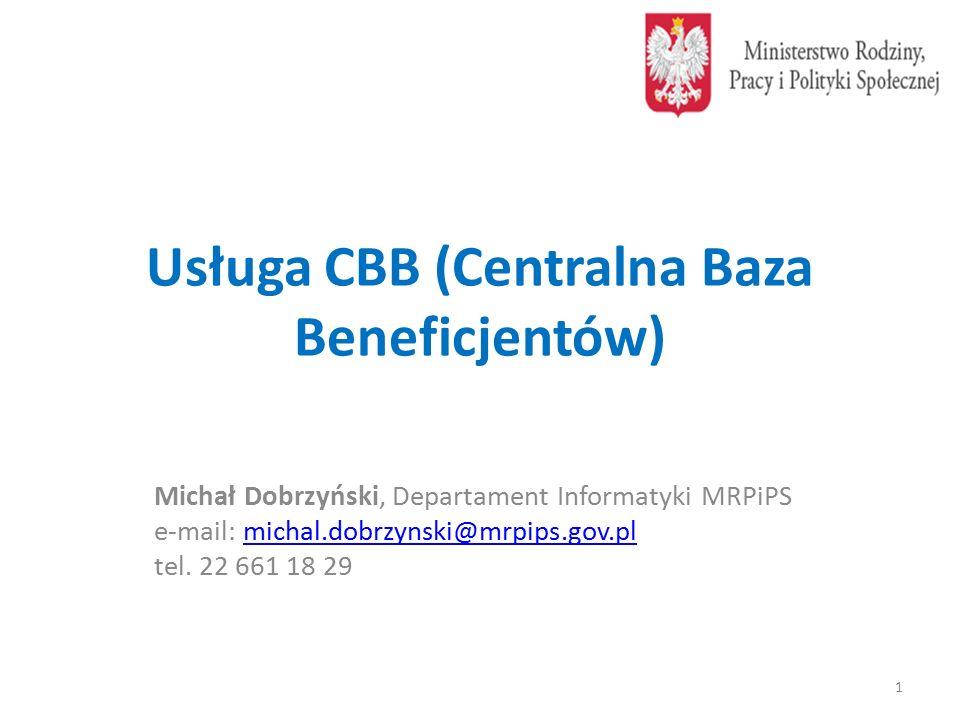 Usługa CBB (Centralna Baza Beneficjentów)