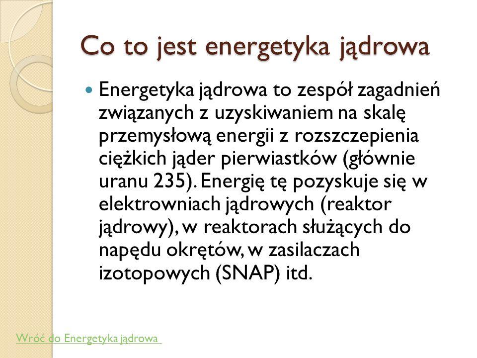 Co to jest energetyka jądrowa