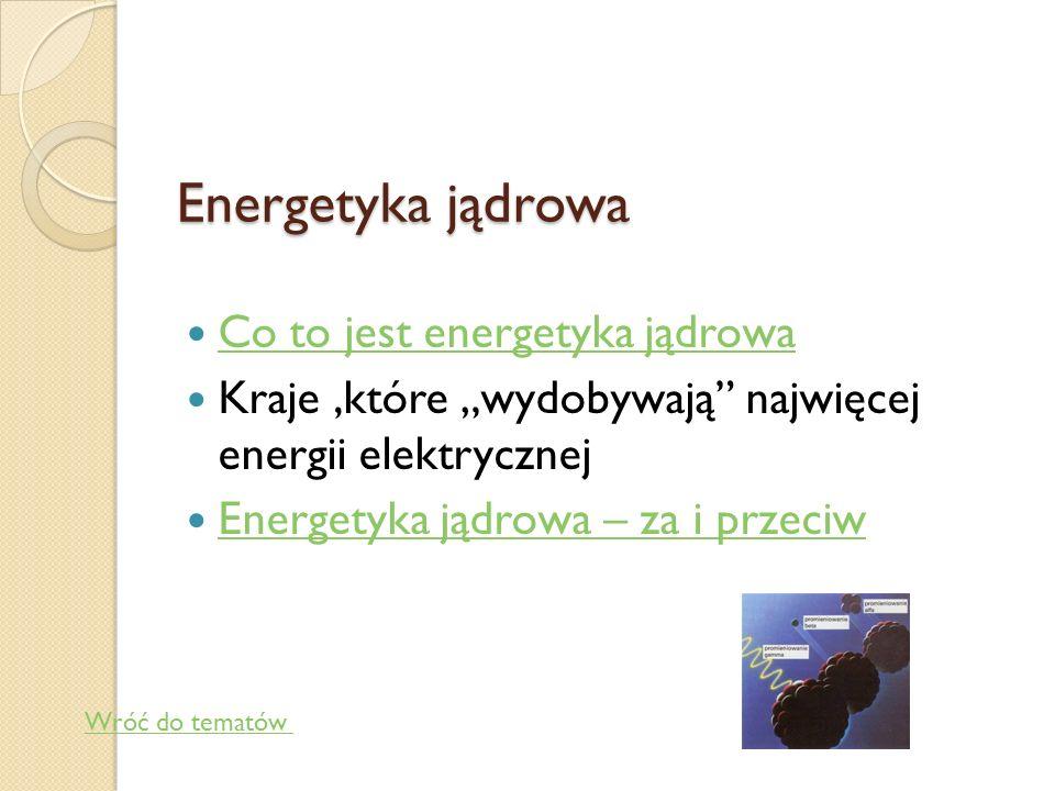 Energetyka jądrowa Co to jest energetyka jądrowa