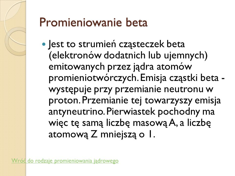 Promieniowanie beta