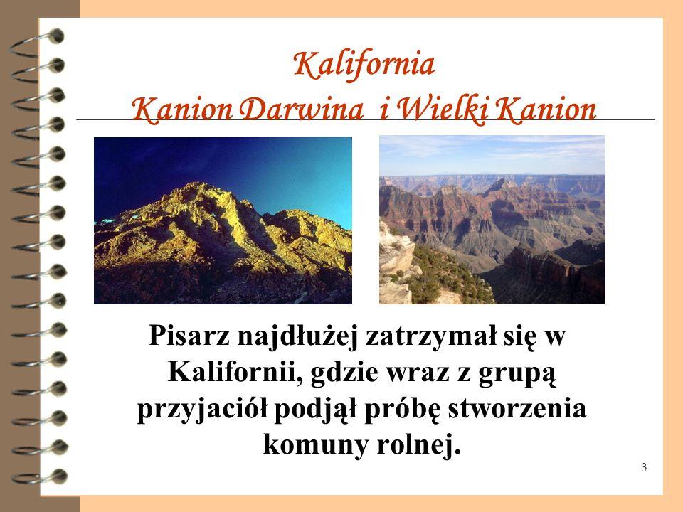 Kalifornia Kanion Darwina i Wielki Kanion