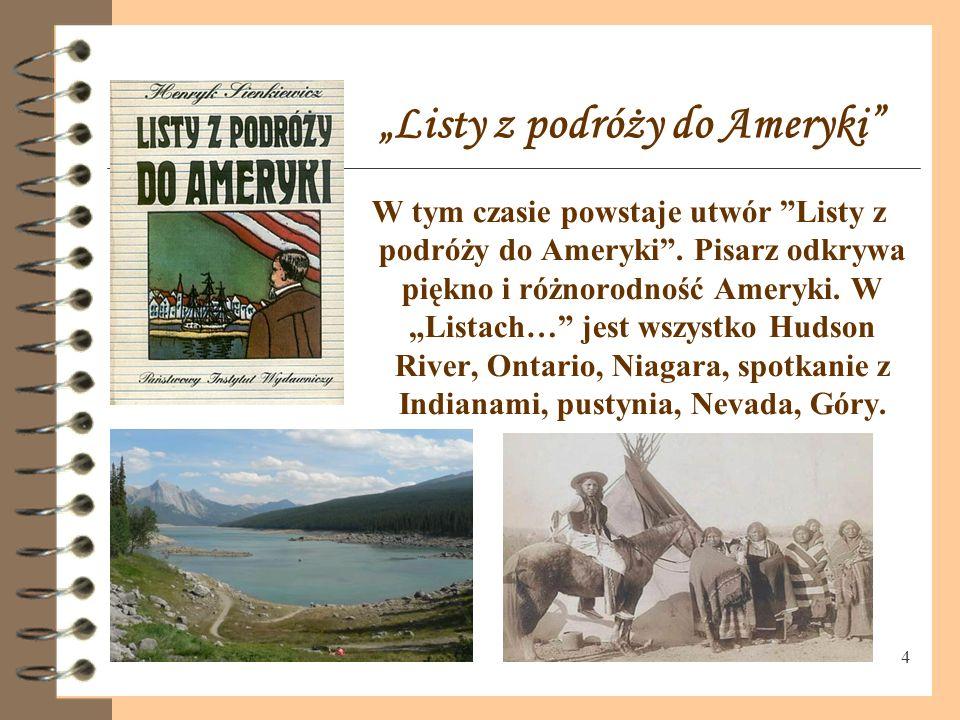 """""""Listy z podróży do Ameryki"""