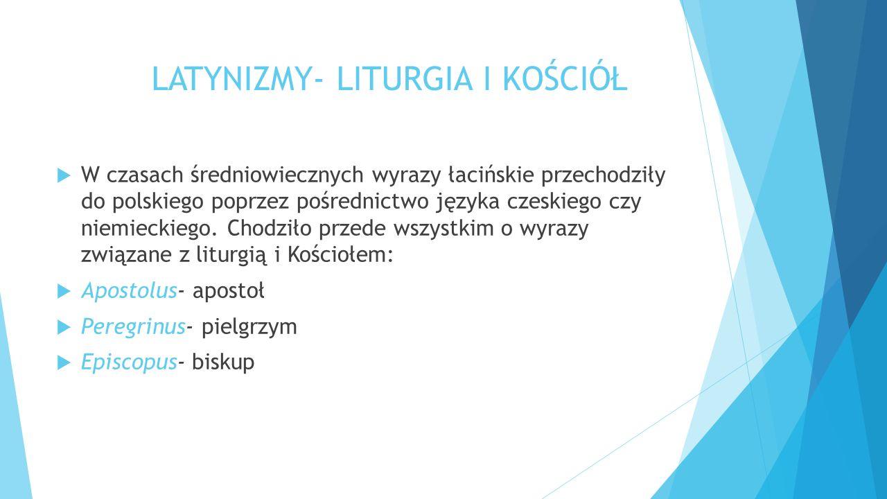 LATYNIZMY- LITURGIA I KOŚCIÓŁ