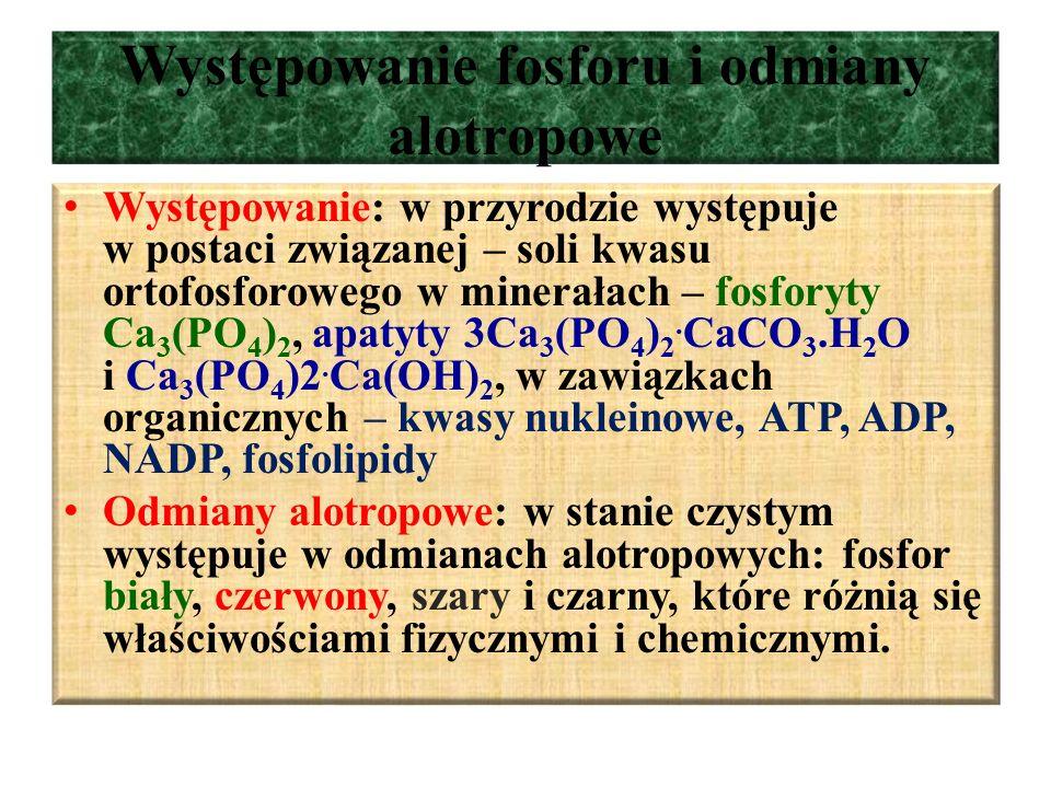 Występowanie fosforu i odmiany alotropowe