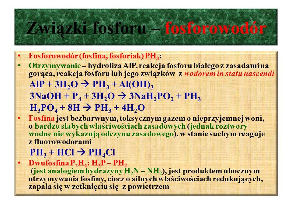 Związki fosforu – fosforowodór
