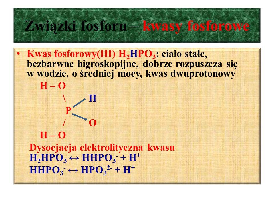 Związki fosforu – kwasy fosforowe