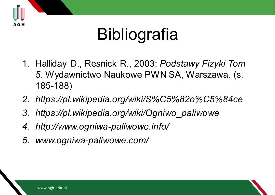 Bibliografia Halliday D., Resnick R., 2003: Podstawy Fizyki Tom 5. Wydawnictwo Naukowe PWN SA, Warszawa. (s. 185-188)